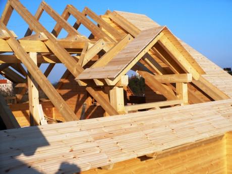 Stavba střechy postup